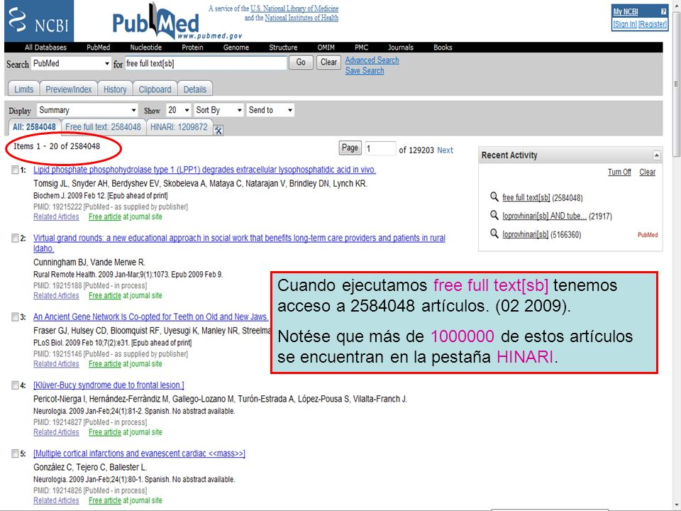 Free full text Subset 2 Cuando ejecutamos free full text[sb] tenemos acceso a 2584048 artículos. (02 2009).